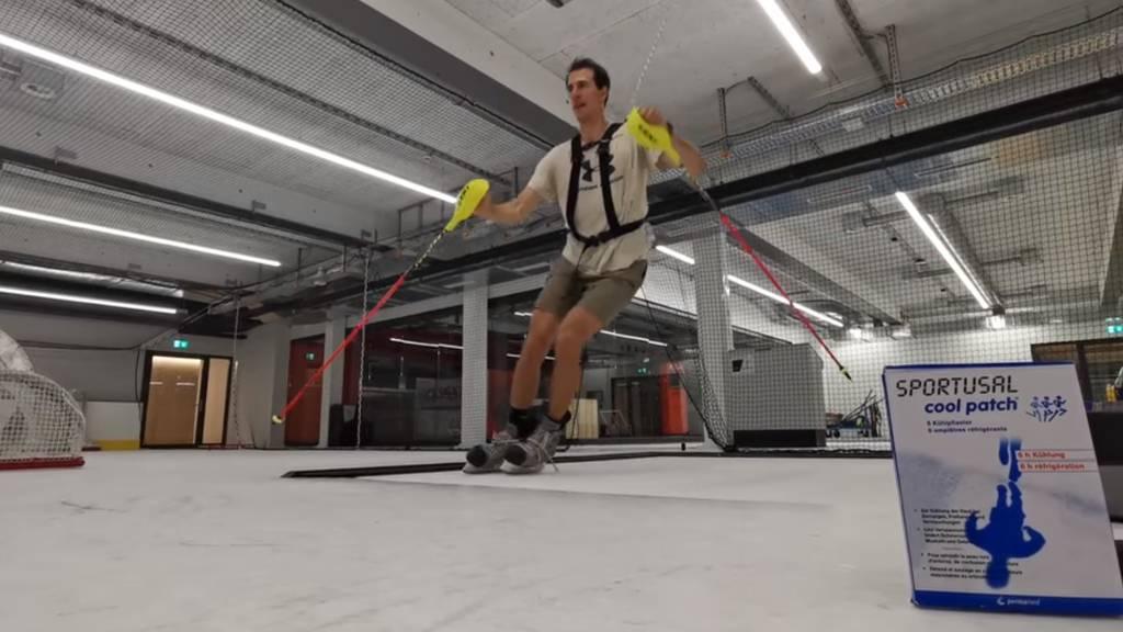 Hier trainiert Ramon Zenhäusern auf Zuger Eis