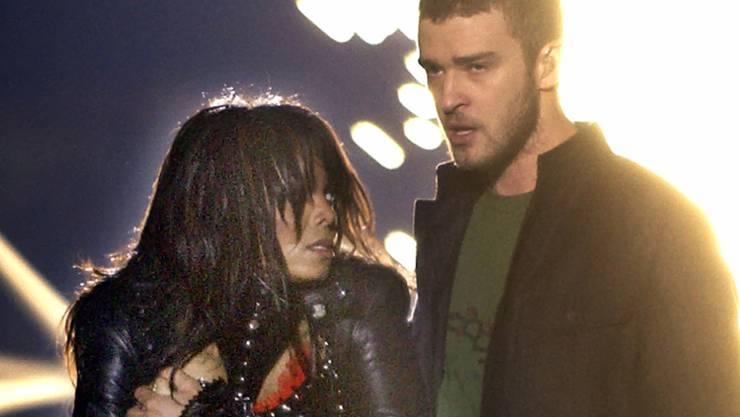 """Vor 14 Jahren: Justin Timberlake und Janet Jackson sorgen am Super Bowl in Houston für den """"Nipplegate""""-Skandal"""