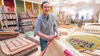 Teppichhändler schliesst seinen Laden neben der Kunsthalle