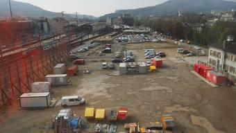Das Gelände der Baufelder 1 und 2: Zwei Interessenten, darunter die Pallas Kliniken, stehen vor der Übernahme je eines Baufeldes.