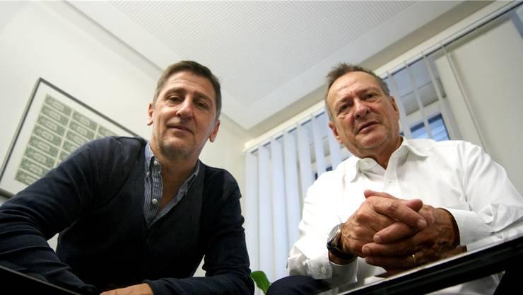 Andy Ladner (links) und René Strittmatter sind seit 2010 in der Beraterbranche tätig.bier