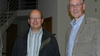 Michel Christen (r.) übernahm das Amt als Gemeindeammann 2011 von Josef Füglistaler. Jetzt tritt er selbst zurück. (Archiv)