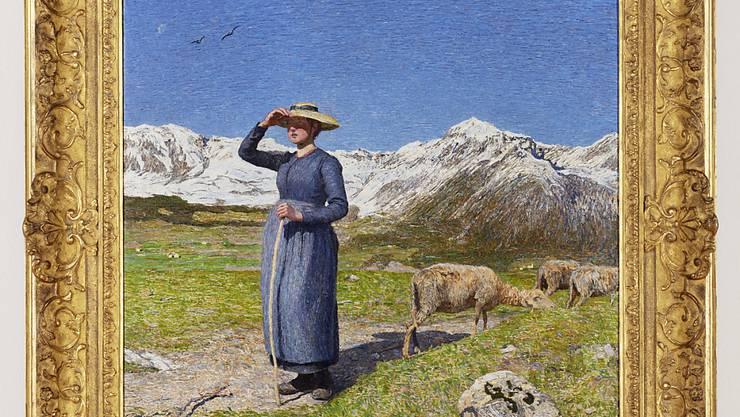 """Das Licht der Alpen kommt in Giovanni Segantinis Werk """"Mezzogiorno sulle alpi""""  besonders gut zur Geltung."""
