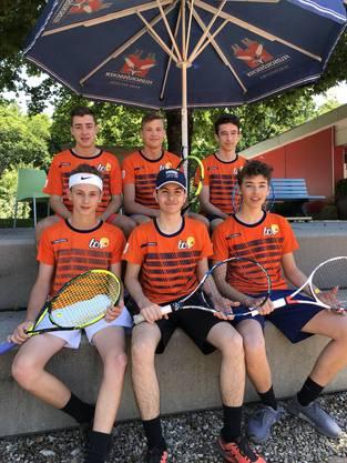 U-18 Mannschaft des Tennisclubs Rheinfelden