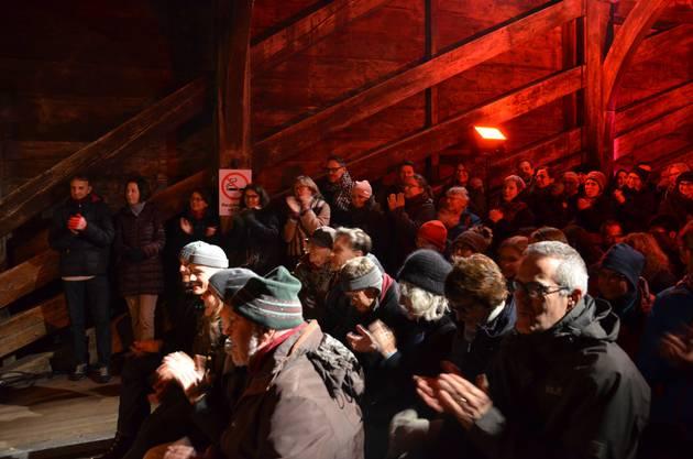 Santa Slam auf Badener Holzbrücke