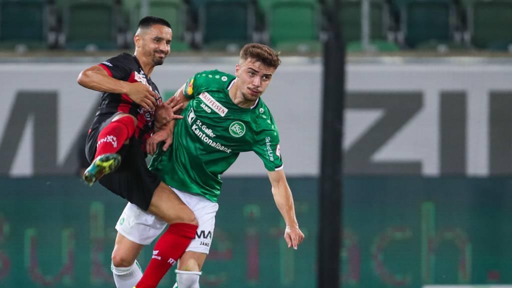 Betim Fazliji (rechts) erzielte St. Gallens 1:0