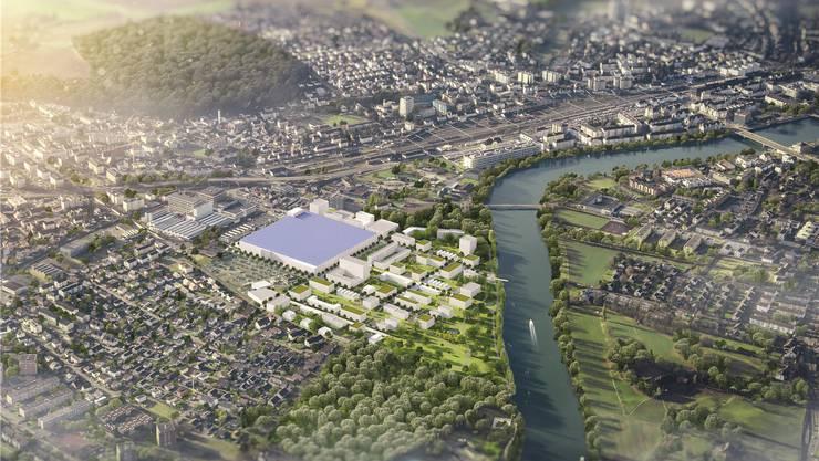 Ein modernes Quartier mit grossstädtischen Strukturen könnte in Zuchwil entstehen.