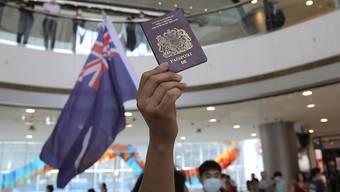 Proteste in Hongkong: Die britische Regierung hatte im Streit um das von Peking geplante Sicherheitsgesetz für Hongkong gedroht, ehemalige Untertanen einzubürgern.