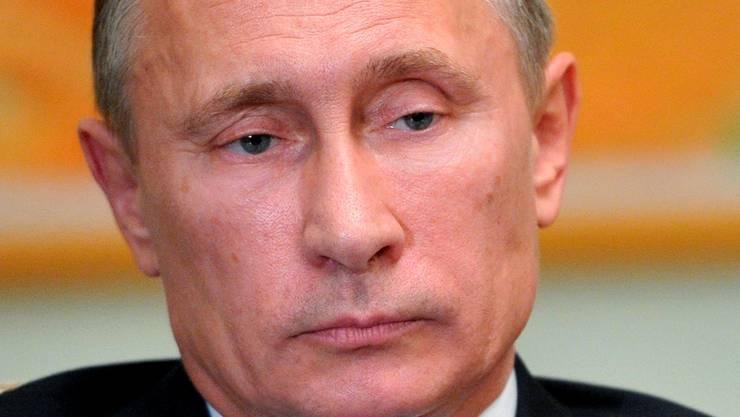 Vladimir Putin war auf dem Bild halbnackt.