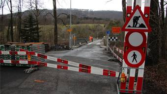 Zwischen Rohrer Wald und Auenstein ist zwei Monate lang kein Durchkommen mehr.