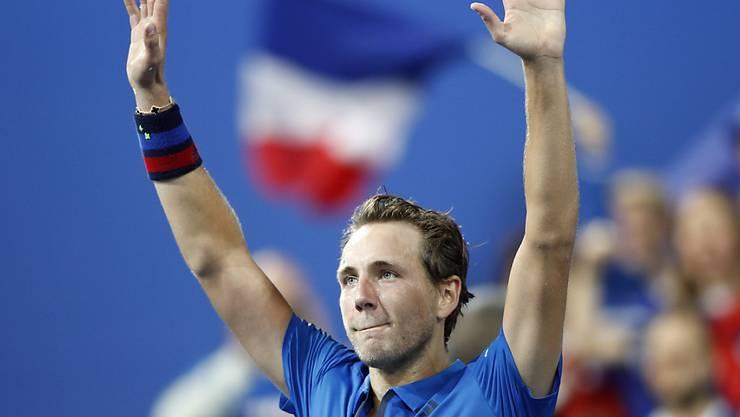 Lucas Pouille brachte Frankreich in Lille mit 2:0 in Führung