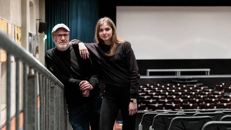 Urs Alber und seine Tochter Julia Schmid teilen die Leidenschaft des hiesigen Filmfestivals.
