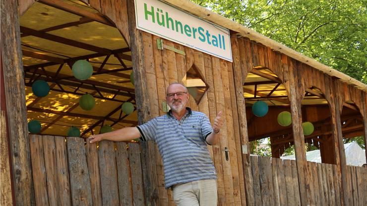 Voller Vorfreude auf den Start des Aargauer Musikfestes: OK-Präsident Walter Marbot.