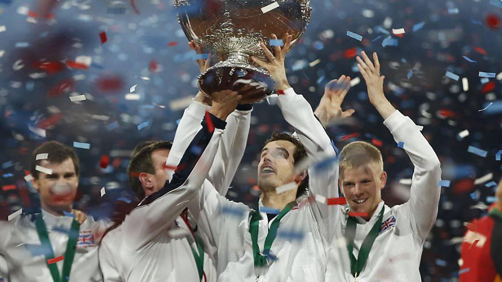 Als Captain holte Andy Murray 2015 mit Grossbritannien den Davis Cup