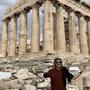 Der Solothurner geniesst die sonst so gut besuchte Akropolis in Athen fast alleine.