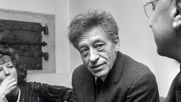 Alberto Giacometti 1962 im Kunsthaus Zürich. key