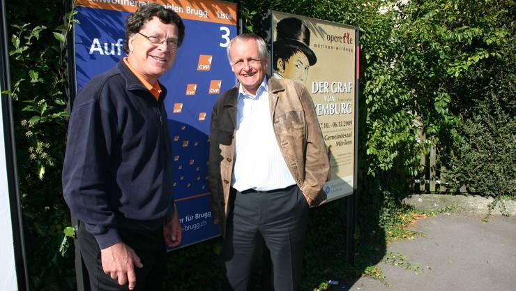 Zuversichtlich: Martin Nüesch (links) und Franz Hollinger. (Louis Probst)