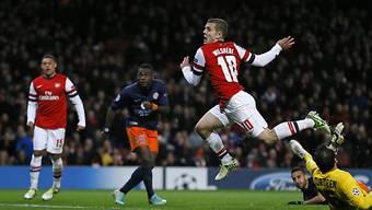 Arsenals Jack Wilshere traf zum 1:0 gegen Montpellier.