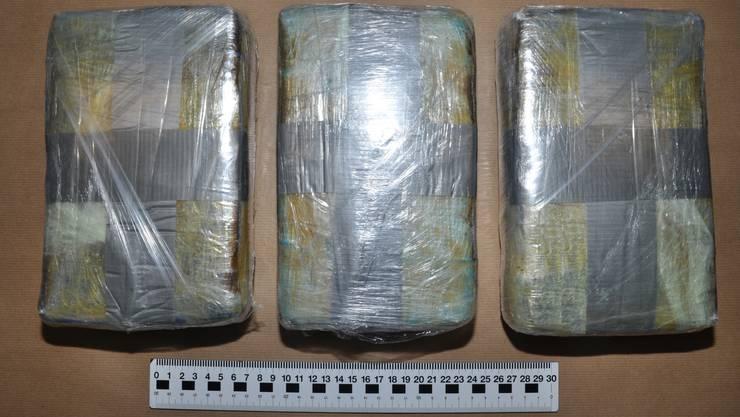Die Grenzwächter stiessen beim Mann mit Wohnsitz im Aargau auf 3 Kilogramm Kokain.