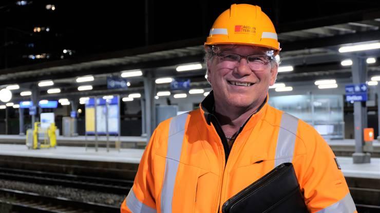 Heribert Burkart, Oberbauleiter für die ganze Limmattalbahn-Baustelle auf Dietiker Gebiet.