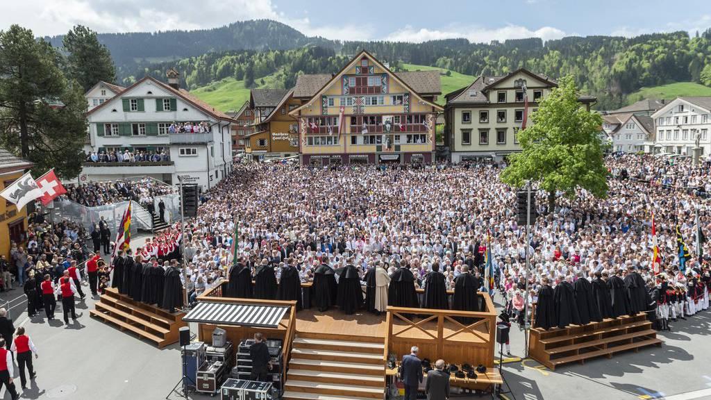 Die Landsgemeine 2018 auf dem Landsgemeindeplatz in Appenzell.