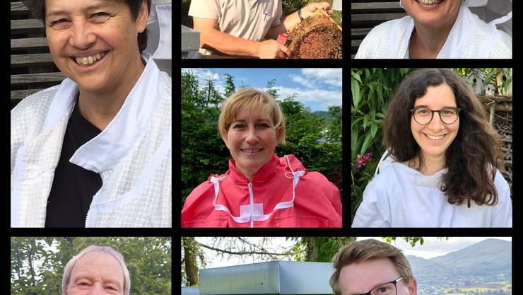 Beatrice Emmenegger, Peter Baumgartner, Liselotte Züllig, Nicole von Arb, Sarah Grossenbacher, Roland Rüedi und Adrian Grieder