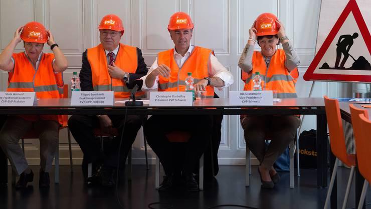 Baustelle Parteiführung: Die Frage, wer in einem halben Jahr auf den abtretenden CVP-Chef Christophe Darbellay folgen wird, löst einen Richtungsstreit aus.