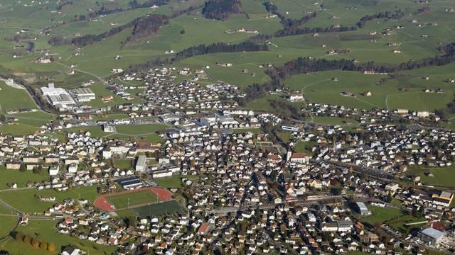 Die Stadt Appenzell aus der Vogelperspektive (Archiv)