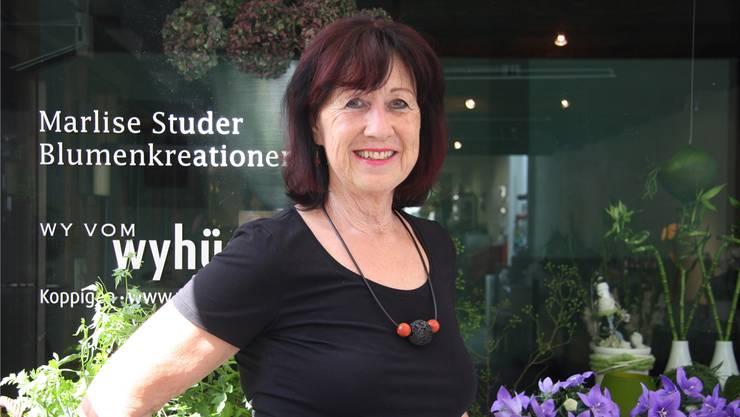 Marlise Studer nimmt bald Abschied von ihrem Floristik-Geschäft in der St. Urbangasse.