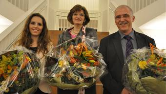 Das neue Präsidium des Dietiker Parlaments (v.l.): Cécile Mounoud (CVP), Christiane Ilg (EVP) und Jörg Dätwyler (SVP).