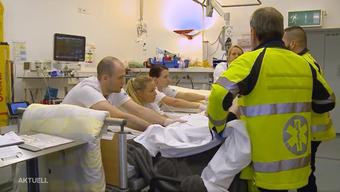 Jede Menge zu tun gab es in den letzten Tagen auf den Notfallstationen im Kantonsspital Baden und Olten.