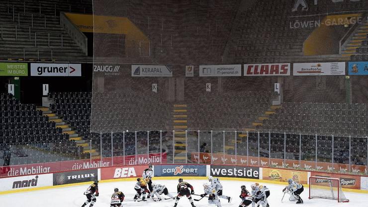 Geisterspiele, wie hier am 28. Februar zwischen Bern und Fribourg, kommen für die Klubs zum Saisonstart im September nicht infrage.