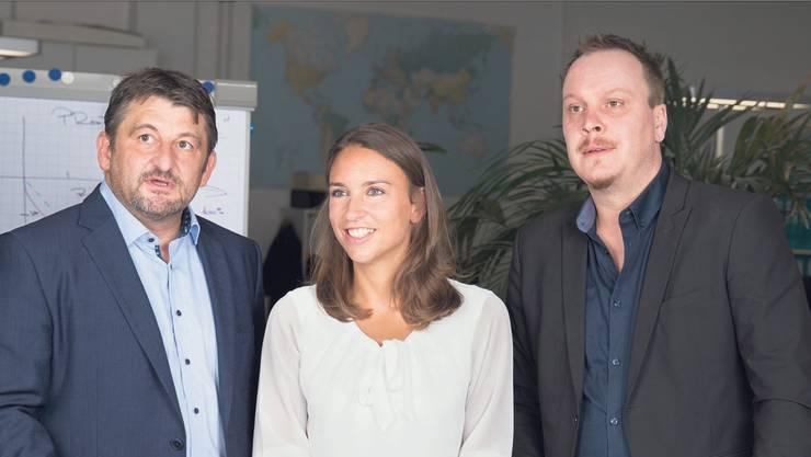Peter Kiegler, Michèle Gattlen und Michael Linder (v. l.) absolvierten für die Übernahme ihrer Firma eine Weiterbildung in Unternehmensführung.