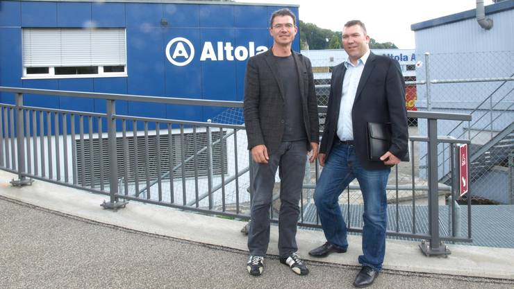 Roland Meier, Unternehmensleiter (links), und Thaddäus Steinmann, Projektleiter hub