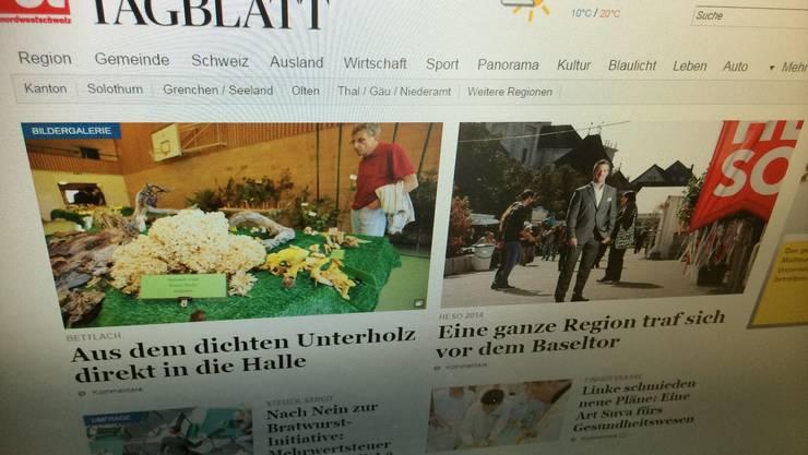Auch die Homepage des Oltner Tagblatts wird angepasst.