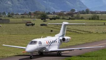 Nach seinem Erstflug ist der Business-Jet Pilatus PC-24 im Mai 2015 auf dem Werksgelände in Stans NW gelandet.