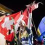 Fanny Smith bejubelt einen ihrer 22 Weltcupsiege