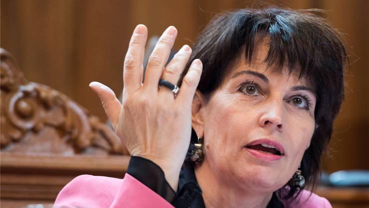Will lieber sparen: Verkehrsministerin Doris Leuthard.Anthony Anex/Keystone