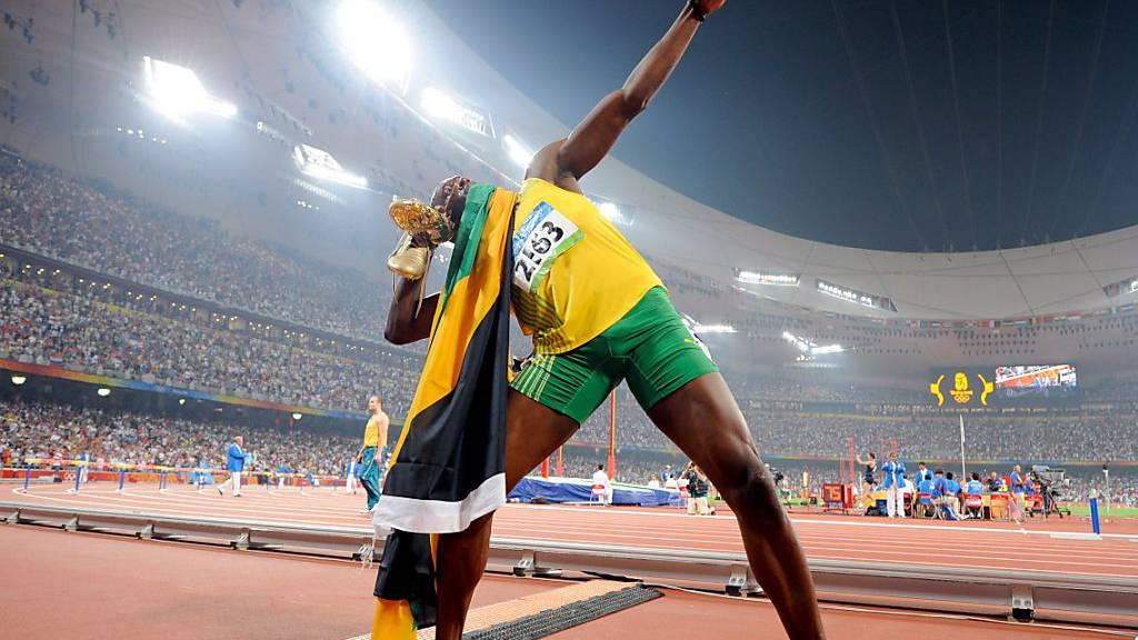 Als Usain Bolt in Peking regelrecht über die Bahn flog