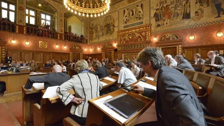 Im Basler Regierungsratssaal wird elektronisch gestimmt. Mit den Daten lässt sich das Abstimmungsverhalten der Volksvertreter analysieren.