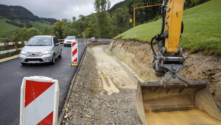 Strassenbauarbeiten an der Passwangstrasse, Schiltloch: Breitenbacher FDP-Kantonsrat Christian Thalmann will die zweite Etappe der Sanierung mit einem Referendum aufhalten.