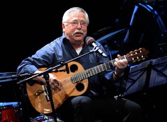 Der 1976 aus der DDR ausgebürgerte Liedermacher Wolf Biermann .