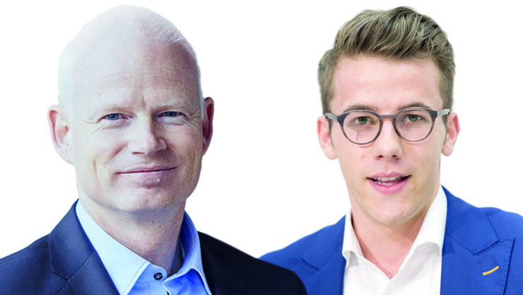 Kontrahenten: Lotterie-Boss Roger Fasnacht (links) kämpft für das Geldspielgesetz. Andri Silberschmidt, Präsident der Jungfreisinnigen, dagegen.