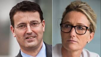 In Sachen Asylchaos ganz und gar nicht einer Meinung: SVP-Präsident Thomas Burgherr und Regierungsrätin Susanne Hochuli.