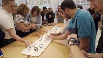 Der Elektronikkonzern Apple stellt für sein traditionell wichtigstes Quartal mit dem Weihnachtsgeschäft ein Umsatzplus von maximal gut fünf Prozent auf 93 Milliarden Dollar in Aussicht. (Archivbild)