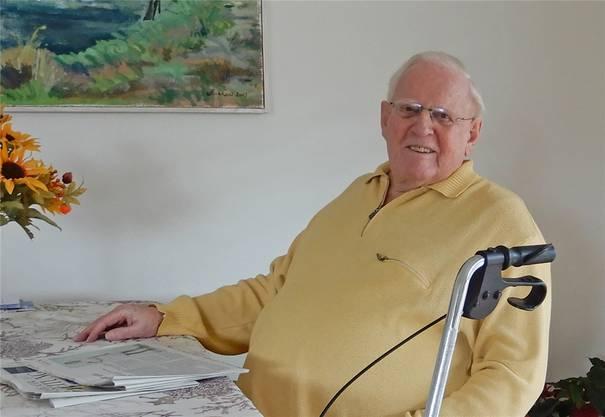 Hans Walti in seiner Wohnung in Trachslau SZ.