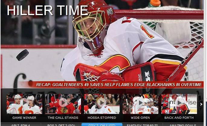 Die offizielle NHL-Seite feiert in der Berichterstattung den überragenden Schweizer Torhüter.