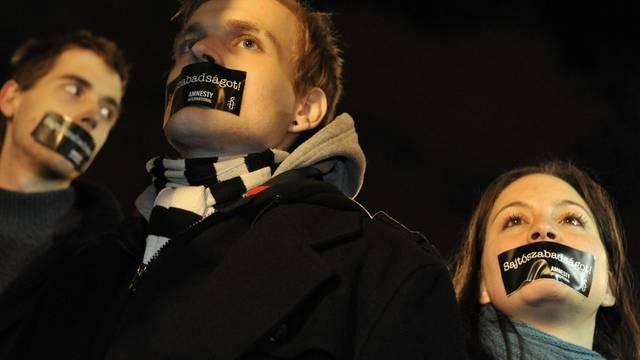 Protest gegen das Mediengesetz in Ungarn (Archiv)