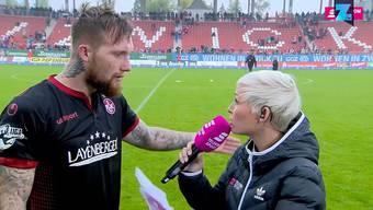 Sowas schreien sonst nur die Fans: Jan Löhmannsröben macht sich unverblümt Luft.