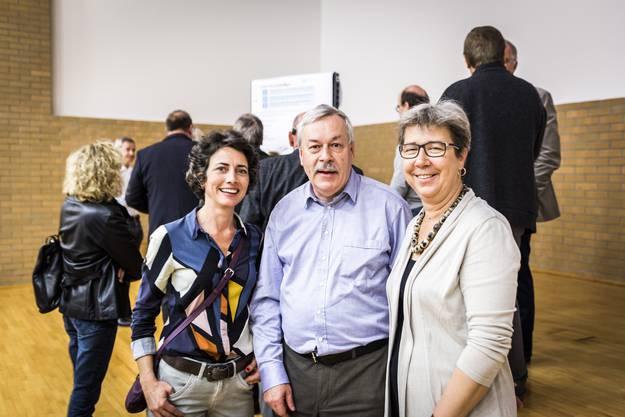 Jasmina Ritz (Limmatstadt), Rolf Steiner (Kantonsratspräsident Zürich) und Esther Tonini (Stadträtin Dietikon)